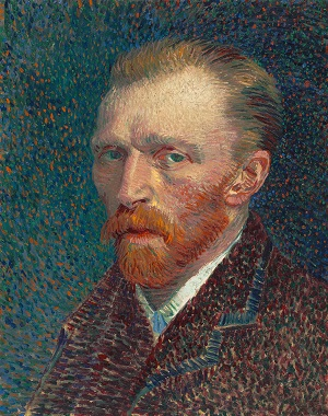 Self-Portrait (1887) by Vincent van Gogh, Art Institute of Chicago