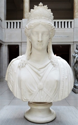 Zenobia, Queen of Palmyra (1859) by Harriet Hosmer, Art Institute of Chicago, Photo by cjverb (2019)