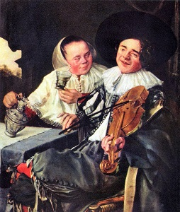 La Joyeuse Compagnie (1630) by Judith Leyster, Louvre, Wikimedia Commons