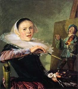 Self-Portrait by Judith Leyster (c1630), National Gallery of Art, Wikimedia Commons