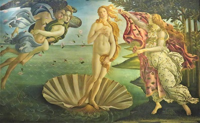 Birth of Venus (c1485) by Sandro Botticelli, Uffizi, Photo by cjverb (2019)