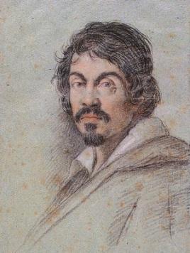 Caravaggio (c1621) by Ottavio Leoni, Biblioteca Marucelliana , Wikimedia Commons
