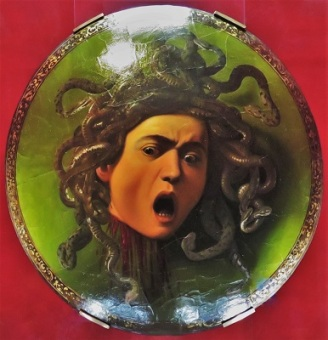 Medusa (c1595-1598) by Michelangelo Merisi Caravaggio, Uffizi, Photo by cjverb (2019)