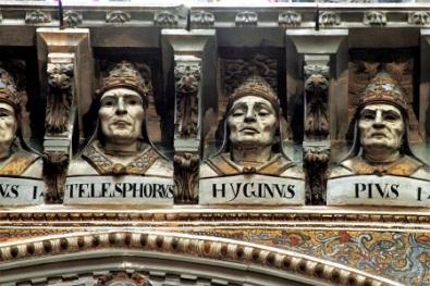 Pope Busts Duomo di Siena, Photo by José Luiz Bernardes Ribeiro, Wikimedia Commons
