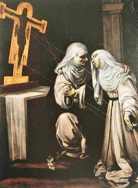 Stigmata, Catherine of Siena (early 1600s) by Rutilio Manetti, Wikimedia Commons