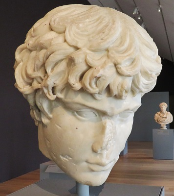 Fragment of Head of Antinuous (Mid-2nd Century), Art Institute of Chicago, Photo by cjverb (2019)