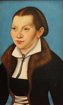Katharina von Bora (1529) from workshop of Lukas Cranach, Uffizi, Photo by cjverb (2019)