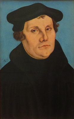 Martin Luther (1529) from workshop of Lukas Cranach, Uffizi, Photo by cjverb (2019)
