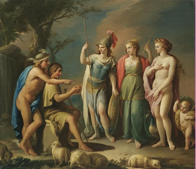 The Judgement of Paris (c late 1700s) by José Camarón Bononat, Wikimedia Commons