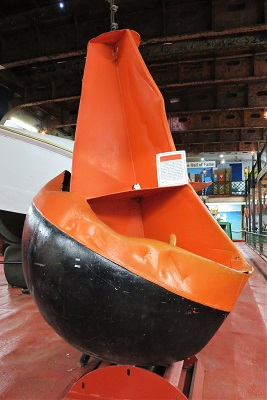 Buoy used to position Edmund Fitzgerald Wreckage, Valley Camp Museum Ship, Photo by cjverb (2019)