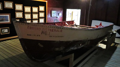 Edmund Fitzgerald Lifeboat #1, Valley Camp Museum Ship, Photo by cjverb (2019)