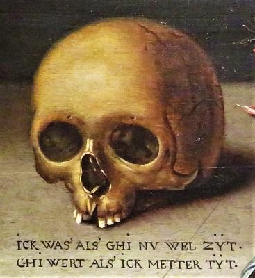 Skull from A Vanitas Still Life (c1620), Flint Institue of Arts, Photo by cjverb (2018)