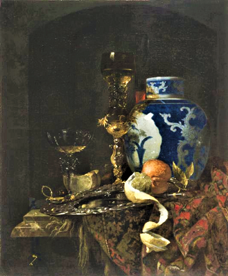 Kalf-Still Life with Chinese Porcelain Jar-Netherlands-Baroque