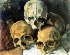 Pyramid of Skulls (c1901) by Paul Cézanne, Wikimedia Commons