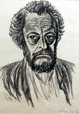 Self-Portrait by Ernst Barlach (1928), Wikimedia Commons
