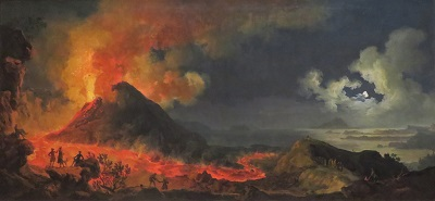 The Eruption of Vesuvius (1771) by Jacques-Antoine Volaire, Art Institute of Chicago, Photo by cjverb (2019)-400px