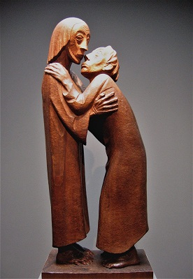 The Reunion (1926) by Ernst Barlach, Photo by Rufus46, Wikimedia Commons