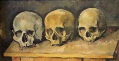 The Three Skulls (c1900) by Paul Cézanne, DIA, Photo by cjverb (2017)