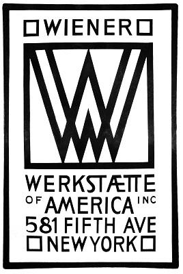 Wiener Werkstaette Sign-New York Branch (1922), Photo by Gryffindor, Wikimedia Commons