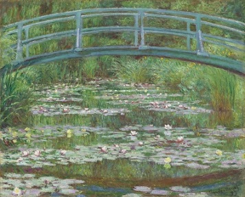 Japanese Footbridge (1899) by Claude Monet, National Gallery of Art, Wikimedia Commons