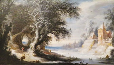 Winter Landscape (after 1611) by Gijsbrecht Leytens, DIA, Photo by cjverb (2020)