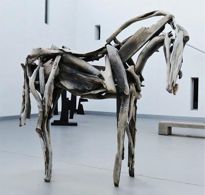 Tarkio (2011) by Deborah Butterfield, Flint Institute of Arts, Photo by cjverb (2018)