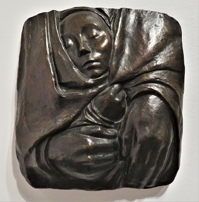 Rest in the Peace of His Hands (1936) by Käthe Kollwitz, San Diego Museum of Art, Photo by cjverb (2019)-400px
