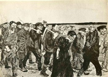 The March of the Weavers in Berlin (1897) by Käthe Kollwitz, WikiArt