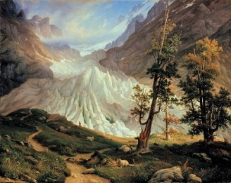 Grindelwald Glacier (1838) by Thomas Fearnley, Wikimedia Commons
