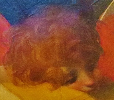 Musical Angel (1521) by Rosso Fiorentino, Uffizi, Photo by cjverb (2019)-Close Up