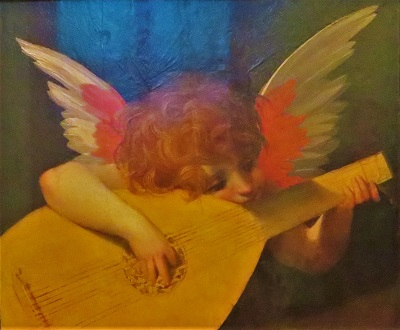 Musical Angel (1521) by Rosso Fiorentino, Uffizi, Photo by cjverb (2019)