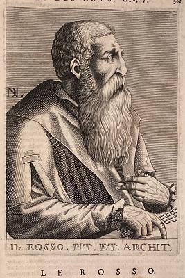 Portrait of Rosso Fiorentino (1682) by Nicolas de Larmessin, Wikimedia Commons