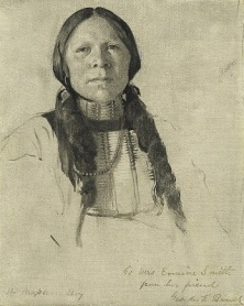 An Arapahoe Boy (c1882) by George de Forest Brush, National Gallery of Art, Wikimedia Commons