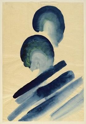 Blue No. 2 (1916) by Georgia O'Keeffe, Brooklyn Museum, Wikimedia Commons