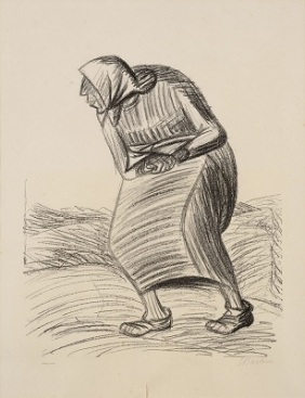 Curse (1922) by Ernst Barlach, Wikimedia Commons