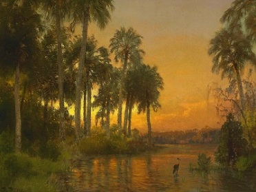 Florida Sunset (c1895) by Herman Herzog, Wikimedia Commons