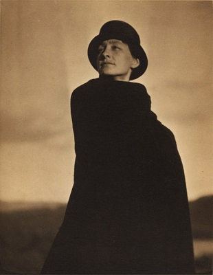 Georgia O'Keeffe, A Portrait (c1920) by Alfred Stieglitz, Getty Collection, Wikimedia Commons