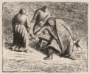 Laden With Someone Else's Guilt, illustration of The Dead Day (1912) a play by Ernst Barlach, Wikimedia Commons