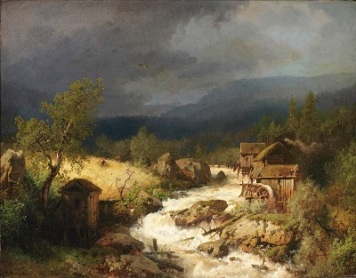 Mill on a Torrent (1871) by Herman Herzog, Smithsonian American Art Museum