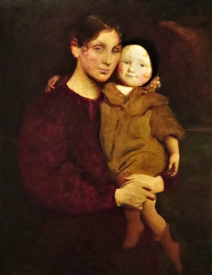 Mother and Child (c1897-1900) by George de Forest Brush, DIA, Photo by cjverb (2020)
