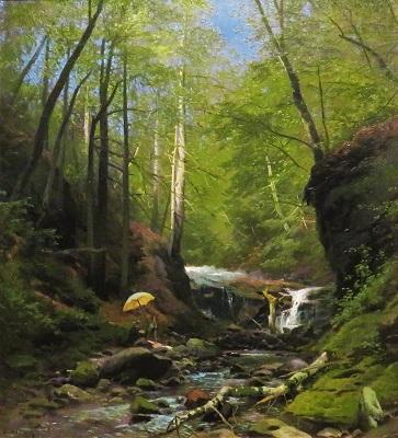 Sketching on Beaver's Creek (c1880-1885) by Herman Herzog, Grand Rapids Art Museum, Photo by cjverb (2019)-400px