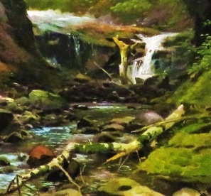 Sketching on Beaver's Creek (creek close up; c1880-1885) by Herman Herzog, Grand Rapids Art Museum, Photo by cjverb (2019)