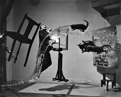 Dali Atomicus (1948) by Philippe Halsman, Library of Congress, Wikimedia Commons