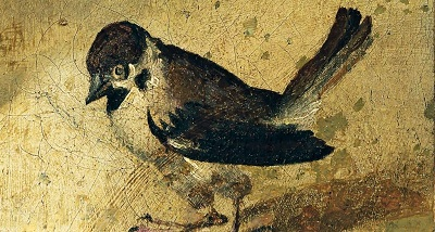 Invenzione della Vera Croce (Sparrow close up; c1585-1589) by Bartolomeo Passarotti, Wikimedia Commons