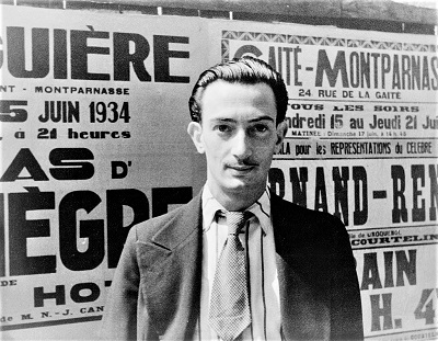 Salvador Dali (1934) by Carl Van Vechten, Library of Congress, Wikimedia Commons