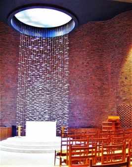 Floating Screen (1955) by Harry Bertoia, Massachusetts Institute of Technology Chapel, Wikimedia Commons