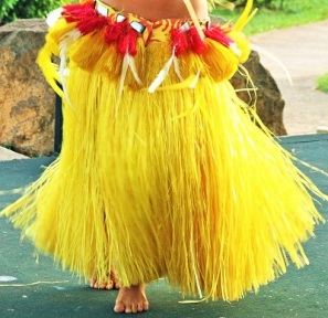 Hula Dancer Performing in Tahitian Costume (cropped) by Frank Kovalchek, Wikimedia Commons