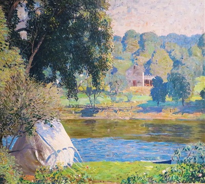 Junior Camp (c1924) by Daniel Garber, San Diego Museum of Art, Photo by cjverb (2019)-400px