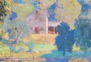 Junior Camp (House Close Up; c1924) by Daniel Garber, San Diego Museum of Art, Photo by cjverb (2019)