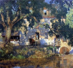The Old Mill (1921) by Daniel Garber, Wikimedia Commons